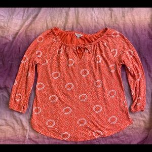 Lucky Brand Long Sleeve Blouse